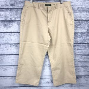 Ralph Lauren Green Label Khaki Capri Pants